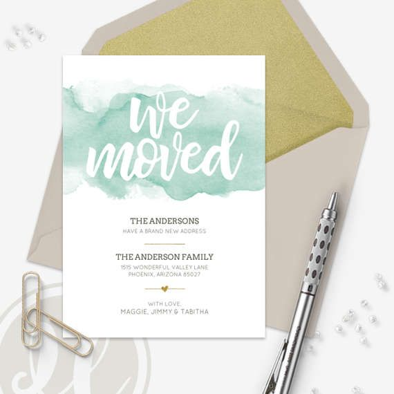 30 best new address cards images on Pinterest Moving - change of address templates