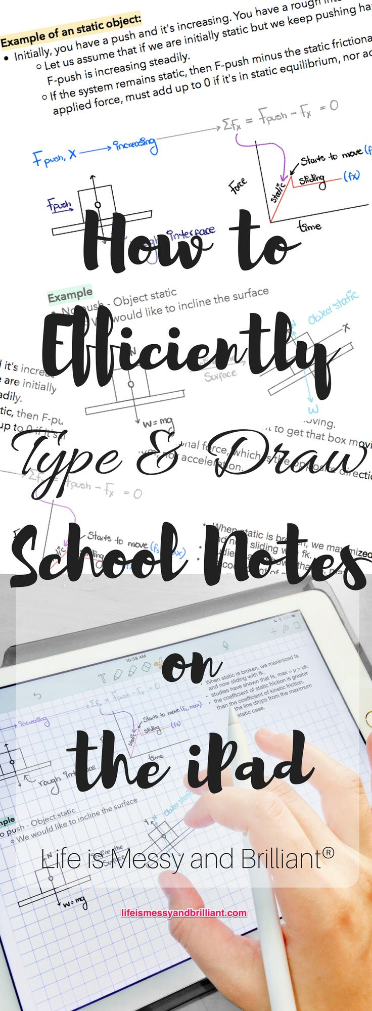How to Efficiently Type and Draw School Notes on the iPad