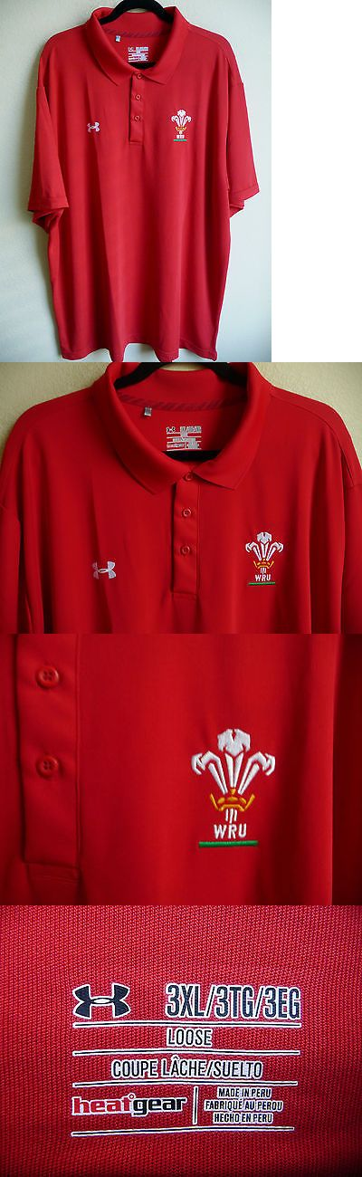 Rugby 21563: Under Armour Heat Gear Wales Rugby Union Wru Polo Shirt 3Xl Loose New BUY IT NOW ONLY: $34.95