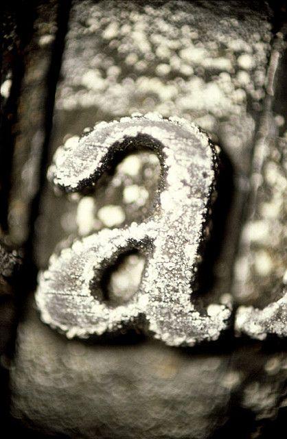 letter 'a' metal typeblock   photo: chris ferebee
