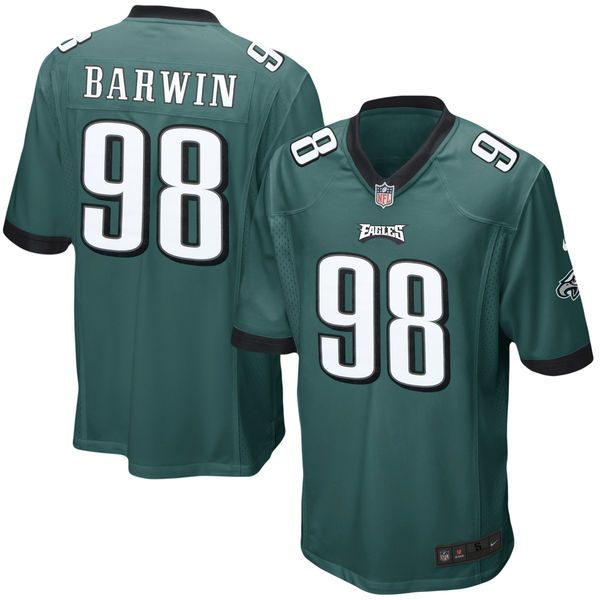 Connor Barwin Philadelphia Eagles Nike Youth Team Color Game Jersey - Midnight Green - $44.99