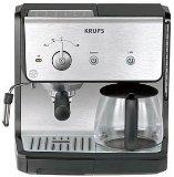 View Krups XP2010 Combination Unit; 10 cup Coffee Maker & 15-bar Pump Espresso