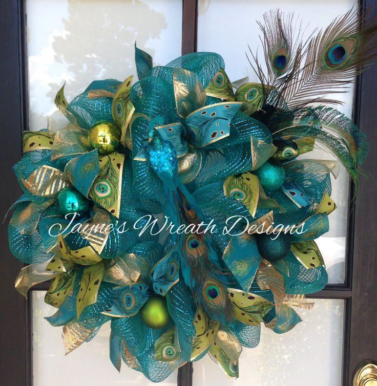 151 Best A Peacock Wreaths Images On Pinterest Peacock