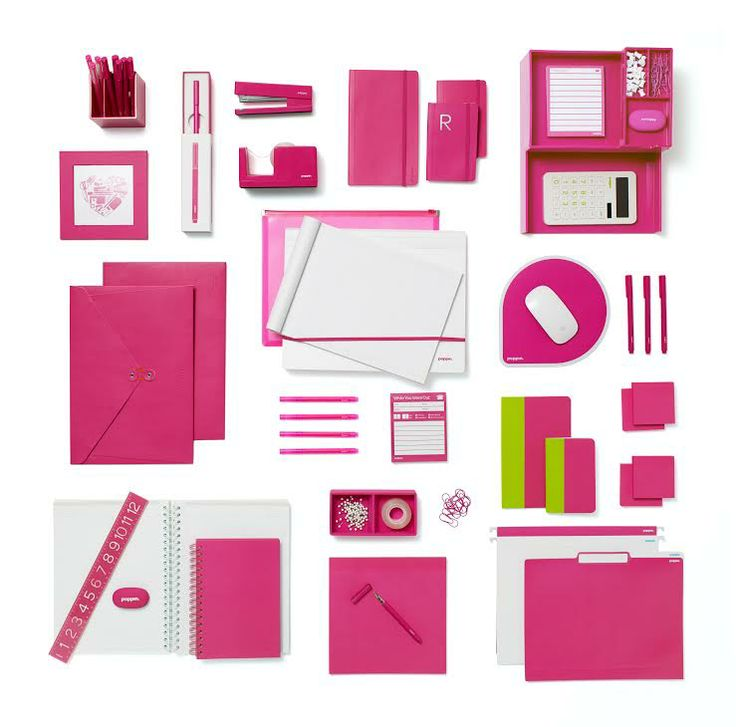 Poppin Pink Office Supplies From Things Organized Neatly