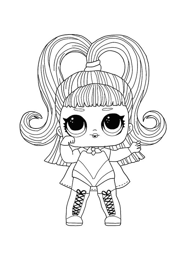 Lol Hairvibes Glow Grrrl Coloring Page Cute Coloring Pages Kids Printable Coloring Pages Barbie Coloring Pages