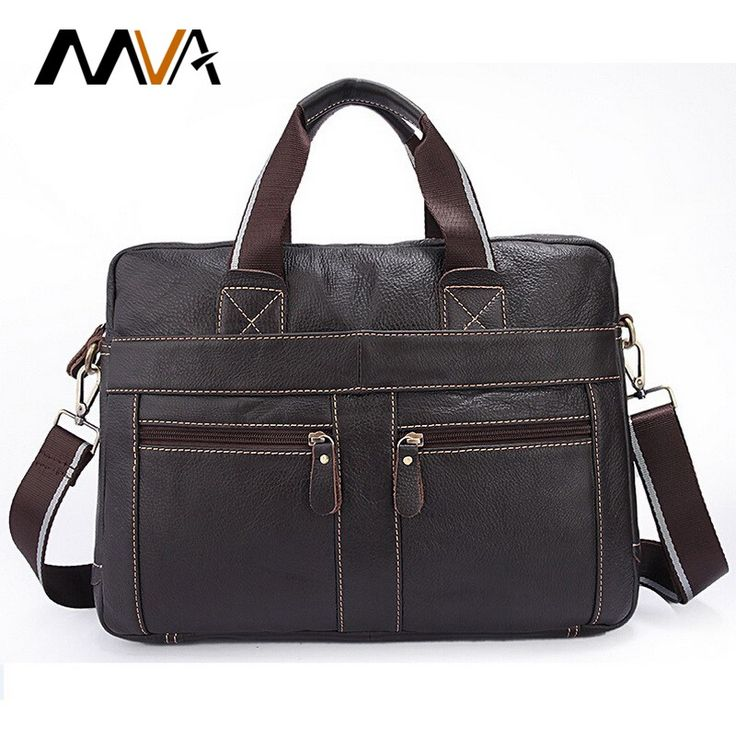 MVA Genuine Leather Men Bag Men Messenger Bags Men's Briefcase Handbag Leather Laptop Bag Portfolio Men Shoulder Crossbody Bags