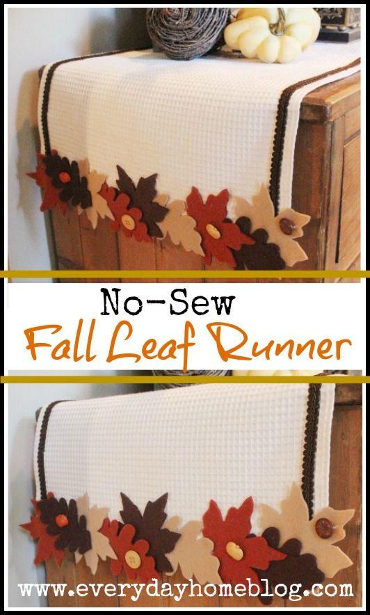 No see fall leaf runner