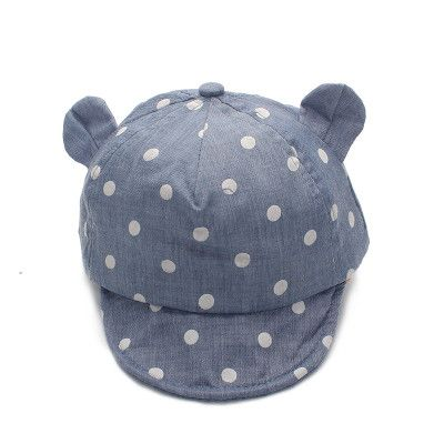 Dot Baby Caps New Girl Boys Cap Summer Hats For Boy Infant Sun Hat With Ear 2017 Sunscreen Baby Girl Hat Spring Baby Accessories