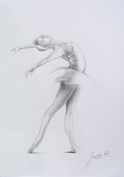 ORIGINAL pencil drawing 12 x 8 on WHITE paper of by EwaGawlik, $26.00