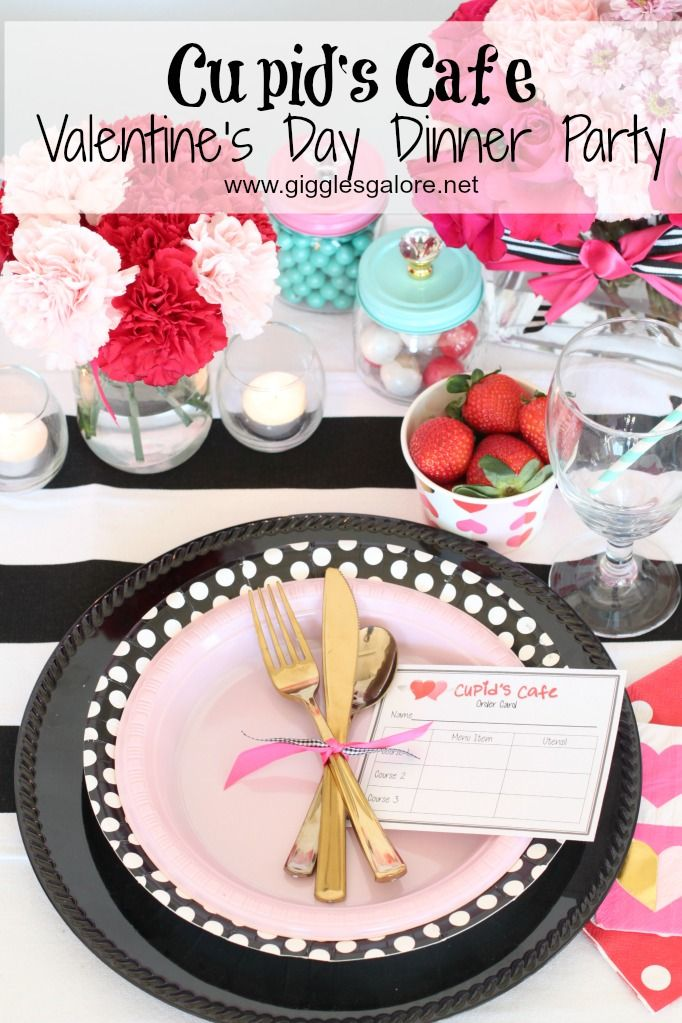 cupids cafe valentines day dinner - Valentine Dinner Party Ideas