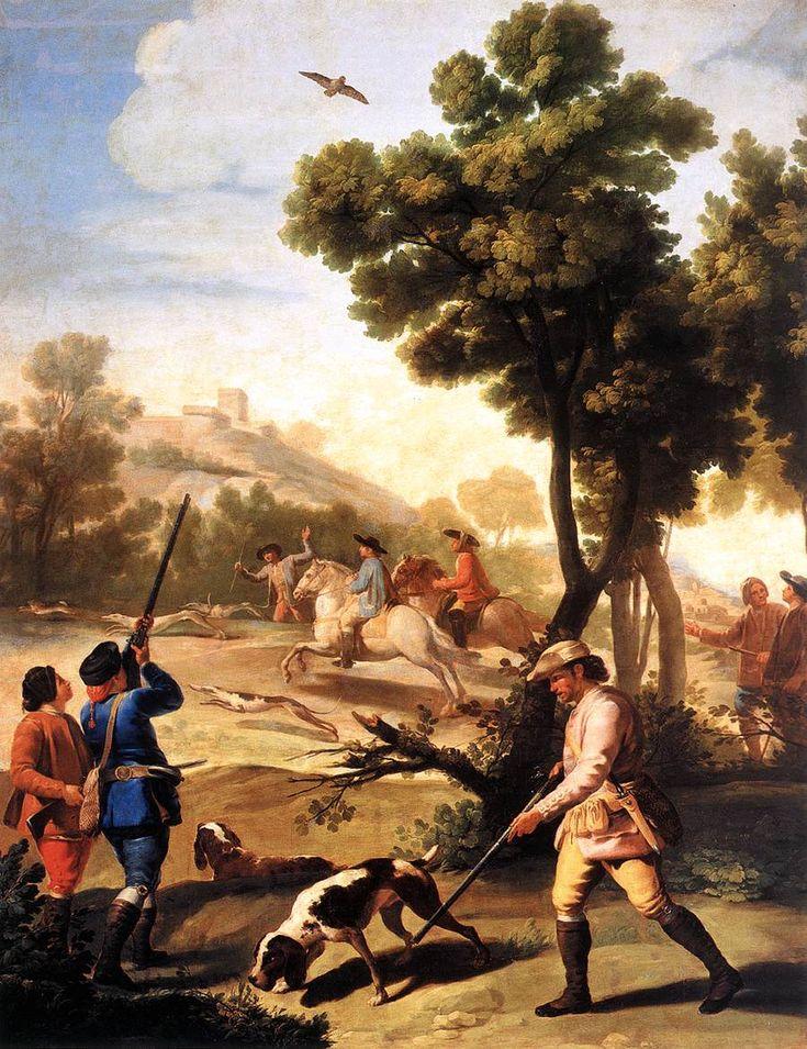 La porción Quail Shoot Francisco de Goya