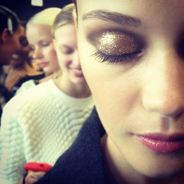 Glitter eye make up Jason Wu Spring 2014