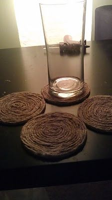 Unique Creativity: DIY Twine Coasters (Decorate your home series)