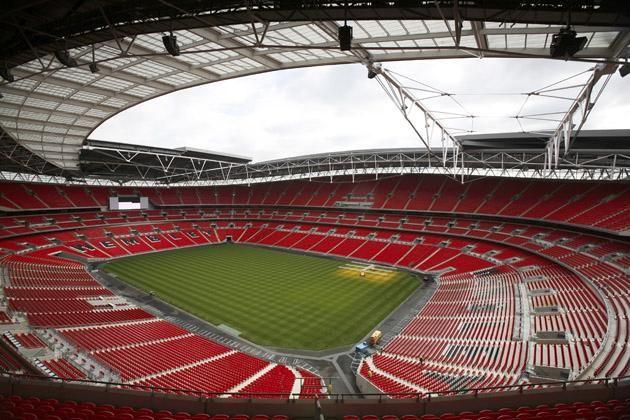 Wembley Stadium, London.  Home of the England national team.