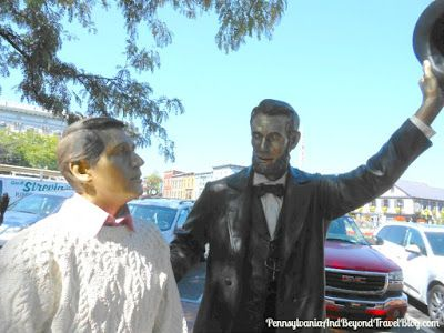Abe Lincoln Statue in Downtown Gettysburg Pennsylvania - Find him on Lincoln Square!