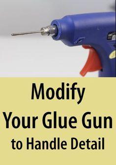 Nice ** HOW TO MAKE A MODED GLUE GUN / Tutorial / DIY