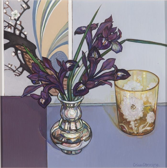 Iris, Silver and Etched Glass-criss canning