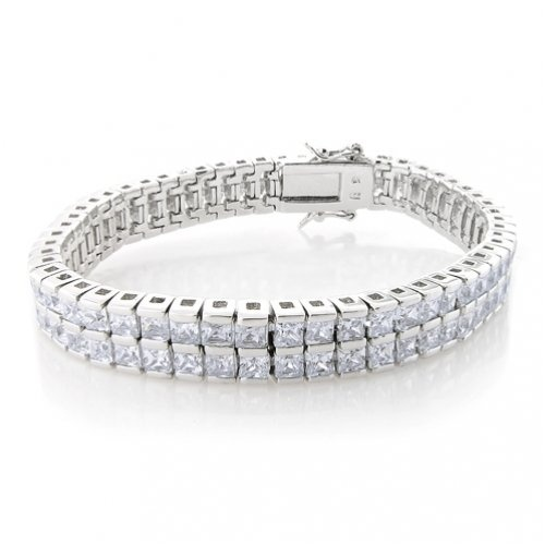 Bling Jewelry 2-Row Channel CZ Tennis Bracelet $120