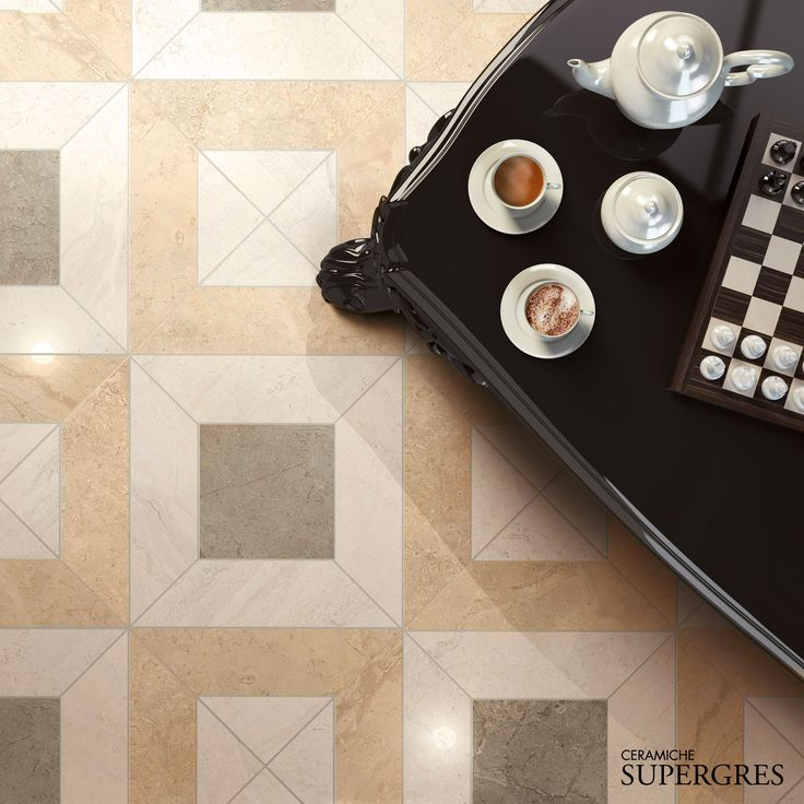 """Graphic tappeto decor of the new """"Gotha"""" collection by Supergres #cersaie #madeinitaly #ceramic #tile"""
