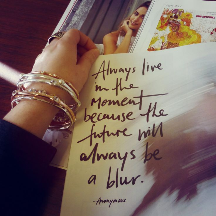 "#Miglio #Designer #Jewellery #Quote of #Inspiration ""Always live in the moment because the future will always be a blur"" - www.miglio.com"