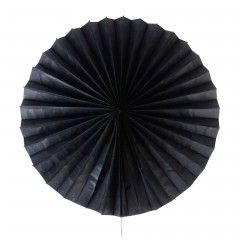 Χάρτινη βεντάλια μαύρη για τη διακόσμηση του πάρτυ