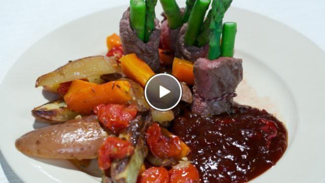 Biefstukrolletjes met asperges en oosterse grillsaus - Grenzeloos Koken | 24Kitchen