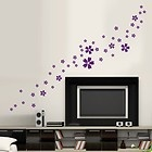 46 Beautiful Flower Violet Bedroom Kitchen Bathroom Wall Stickers Decal #2