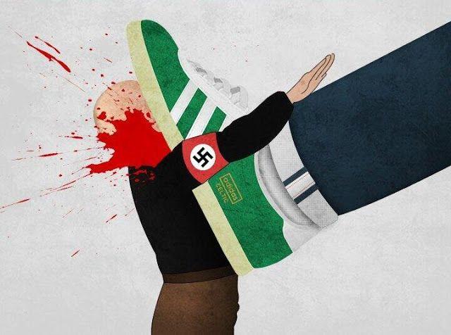 AntiFascism, Nazis, Boot, Cartoon