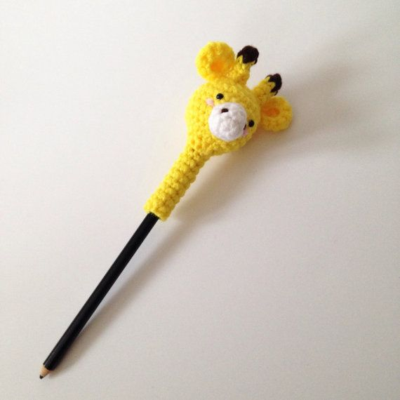 Amigurumi Giraffe Crochet Giraffe Pencil Cover Kids by AmiAmiGocco