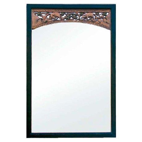 Espejo con arco tallado y marco negro Ancho 102 / Fondo 5 / Alto 150