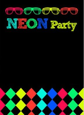 convite aniversário neon 15 anos