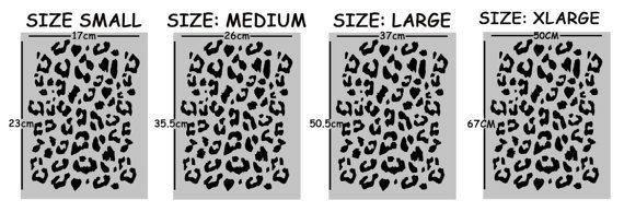 Leopard print pattern stencil home decorating craft stencil