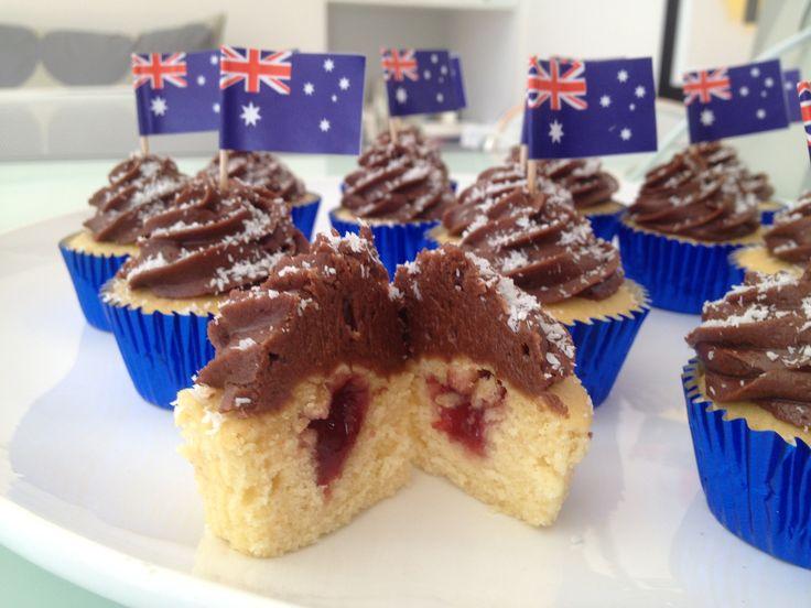 Lamington Cupcakes - Happy Australia Day.