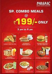 Get Spicy and Hot Special Combo Meals at Rs.199/- Only.