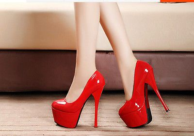 16 Cm Mujer Taco Alto Stiletto plataforma Sexy Prom Bomba Discoteca Boda Zapatos