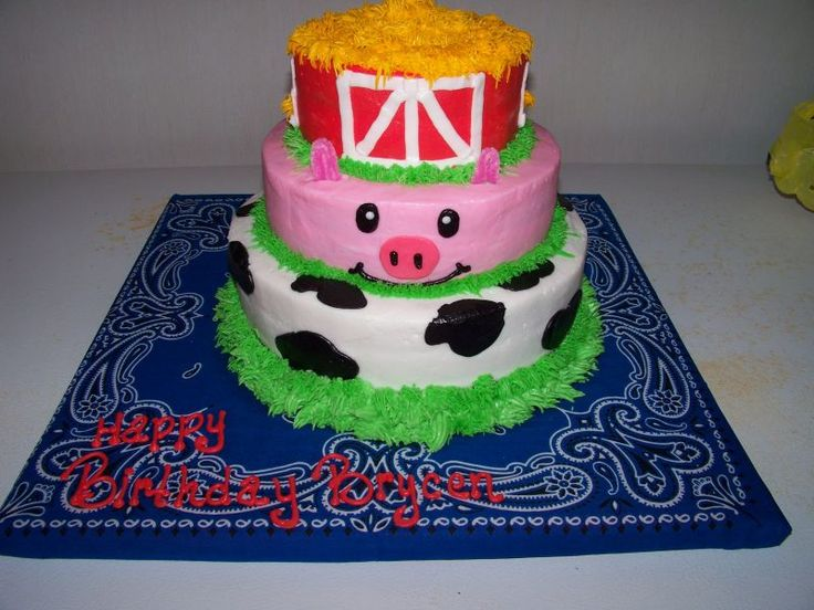 Cute Farm Cake!!! I am having it done  for my little boy who just turned 3.
