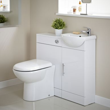 This vanity unit and toilet cloakroom pack makes a fab buy at just £186!
