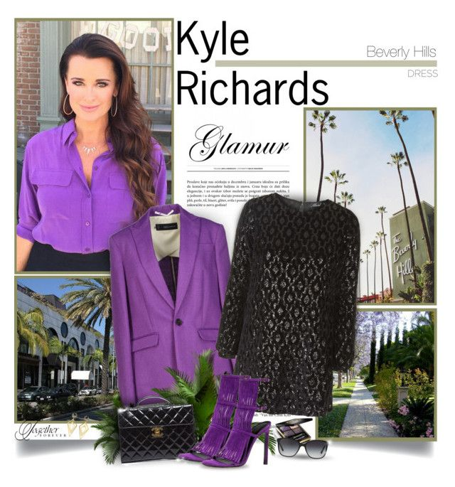 """Kyle Richards - The Real Housewives of Beverly Hills"" by chris101287 ❤ liked on Polyvore featuring Dsquared2, Motel, Chanel, Gucci, Sarah Magid, Bulgari, kylerichards, realhousewives and bellsleevedress"
