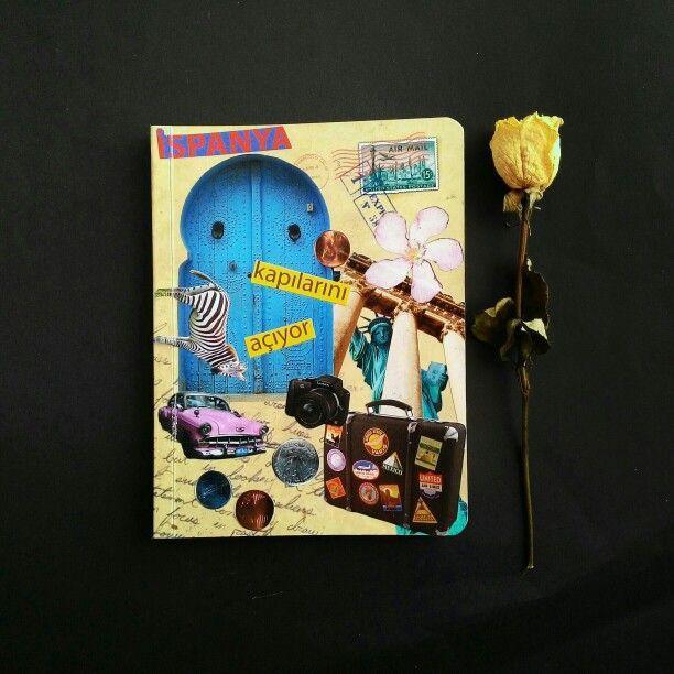 #design #notebook #collage #travel