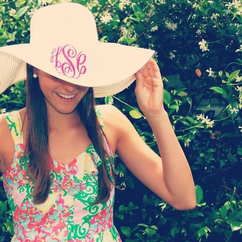monogram floppy hat  floppy beach hat  monogrammed derby hat  floppy sun hat  womens floppy hat