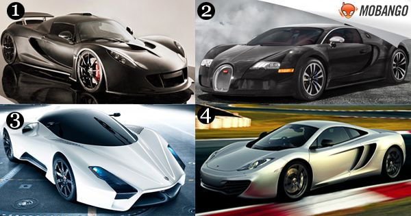 Which is your favorite Super Car? 1) Hennessey Venom GT 2) Bugatti Veyron Supersport 3) SSC Ultimate Aero XT 4) McLaren F1  Experience the thrill of driving with Awesome Car Racing Games. Click:http://bit.ly/Mobango_CarRacingGames