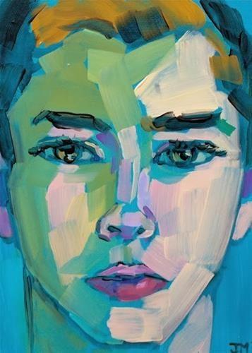 """Half-Hour Portrait Commission"" - Original Fine Art for Sale - © Jessica Miller"