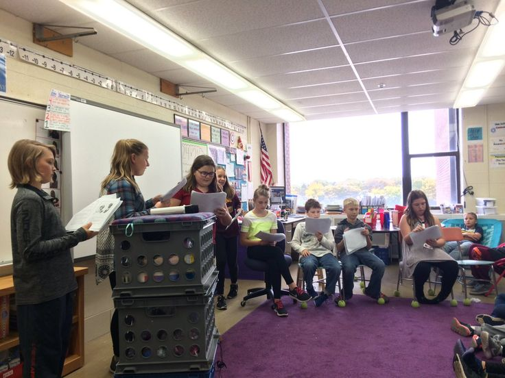 Acting Out Readeru0027s Theater Books From Benchmark Education In Ms.  Nordlockenu0027s 5th Grade Class.