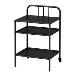 IKEA - FYRESDAL, Nightstand, , Simply roll the nightstand out of the way when you want to transform your daybed into a larger bed or get to things stored under the bed.Easy to move since the bedside table has casters.