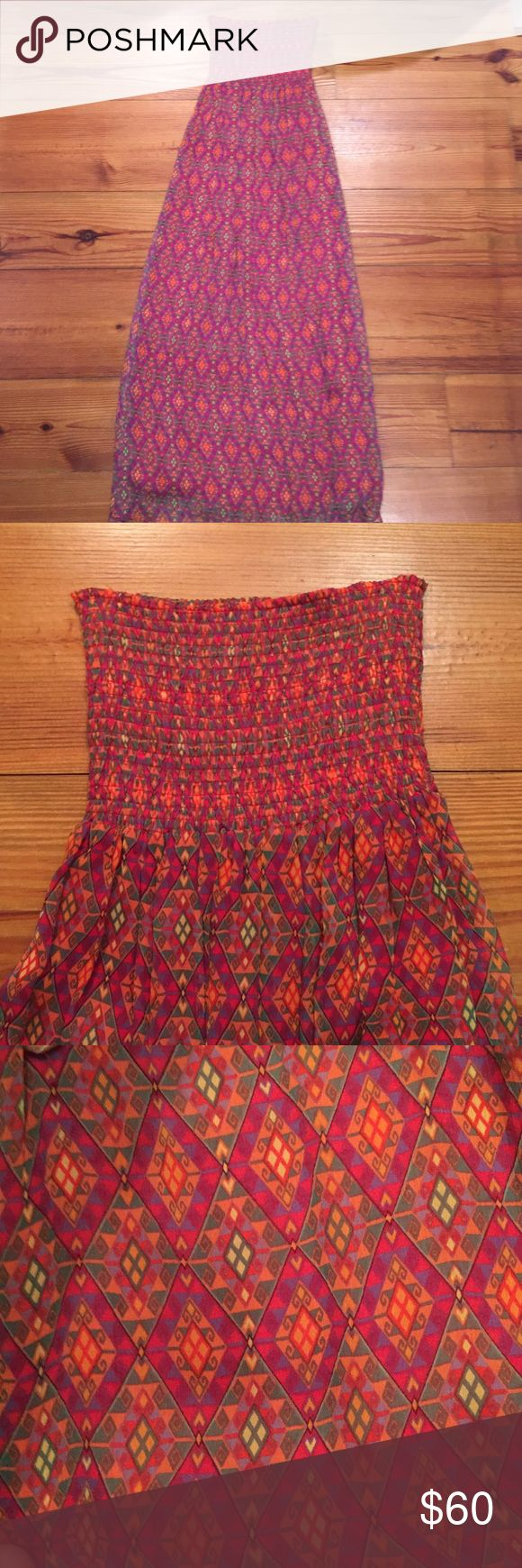 SCOOP NYC Strapless Maxi Dress Perfect for summer bbqs or as a beach cover up! Barely worn! Not splendid!! Splendid Dresses Maxi