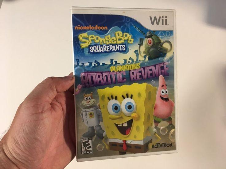 SpongeBob SquarePants: Plankton's Robotic Revenge Nintendo Wii 2013 Nickelodeon