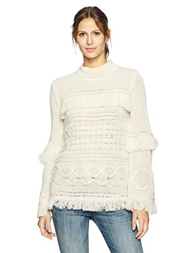 ea5f791744aed Women s Baker Cable Knit Sweater with Fringe Detail