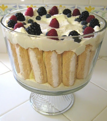 Lady finger trifle