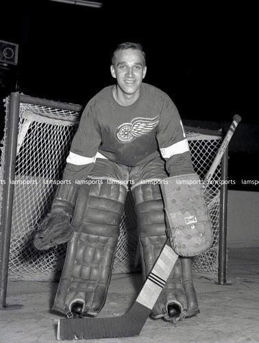 ROGER CROZIER DETROIT RED WINGS NHL GOALIE 8x10 PHOTO (BEEHIVE)