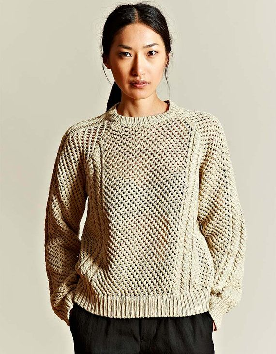 Hand Knit Women's crewneck sweater made to order hand knit women's cardigan pullover women's clothing handmade turtleneck v-neck